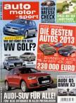 auto motor und sport – Leserwahl: Die besten Autos 2013